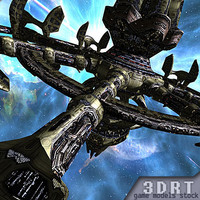 3d x sci-fi norad space station