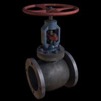 3d model pipe valve