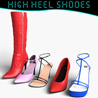 High Heel Shoes Pack 3d Model
