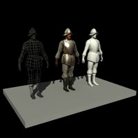 Medieval Heavy Armor Pikeman [low poly]