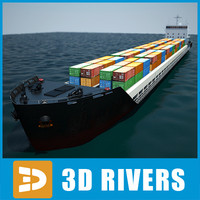 Container ship full 01 by 3DRivers