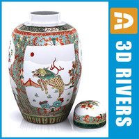 Chinese vase 02 by 3DRivers