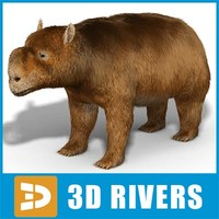 extinct diprotodon 3d model