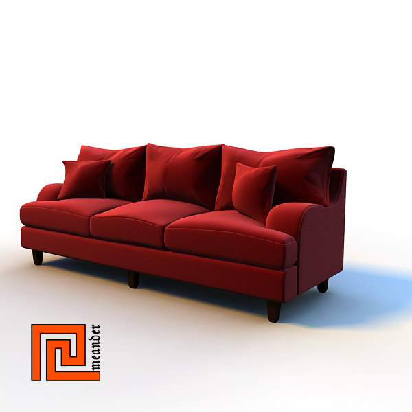 sofa interior 3d model - Sofa 01... by meander
