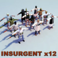 Insurgents_12xSet_3DModel