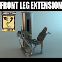 Front Leg Extension Machine