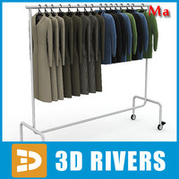 3d metal clothing rack v1 model