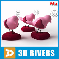 3d saint valentine bird model