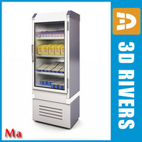3d refrigerating milk freezer v1 model