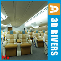 3d model airbus business class interior