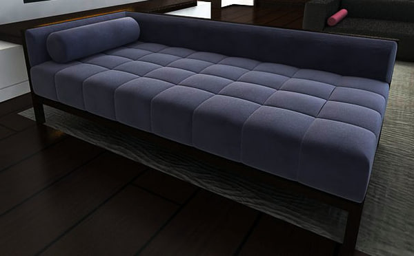 plush tufted chaise lounge 3d model - Tufted Lounge... by cjc_graphics