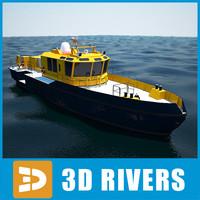 3d model port boat