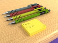 Biro & Post it Notes