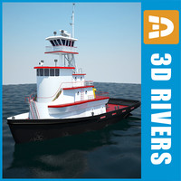 sea tug 3d 3ds