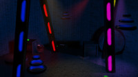 scene futuristic space robot 3d model
