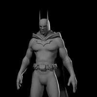 3d batman man model