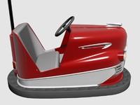 3d vintage bumper car model