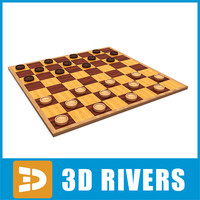 checkers table games 3d 3ds