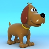 cartoon dog ! 3d model