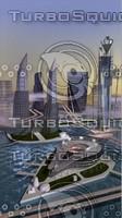 futuristic cityscape 3d model