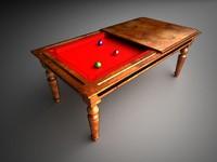 3d classic billiard table model