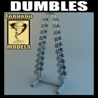 3d dumbell rack