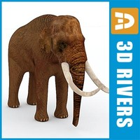 elephant animals large 3d model