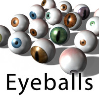 3d ultimate eyeball pack eyes model