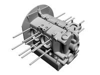 dxf flat-4 engine case flat