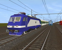 3d model czech railways engine
