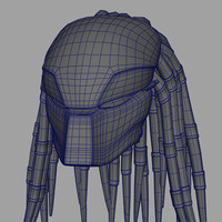 predator mask 3d model