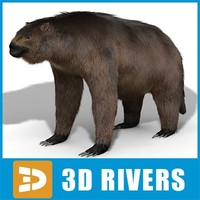 3d model giant megatherium