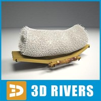 3d model of japanese oshibori