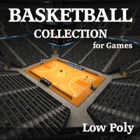 Complete Low Polygon Basketball Collection