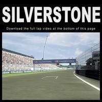 silverstone race track 3d model