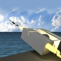 navy sea sparrow missile launcher 3d model