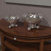 3d model of bowls accessory
