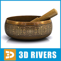 3d model chinese singing bowl