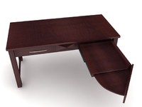 3dsmax espresso laptop desk office furniture
