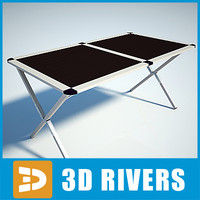 camping table 3d 3ds