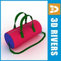 3d kids bag model