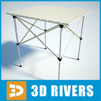 3d camping table