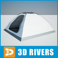 3ds max camping tent