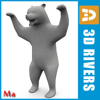 3d polygonal bear model