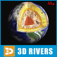 3d model photoreal earth structure