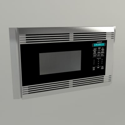 Microwave Drawer With Turntable 3d model sub zero wolf appliance