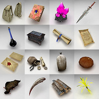 3d rpg items fantasy model