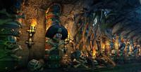 pirate cave 3d max
