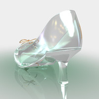 crystal shoe cinderella 3d model