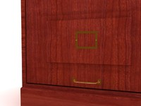 santa fe drawer file cabinet 3d max